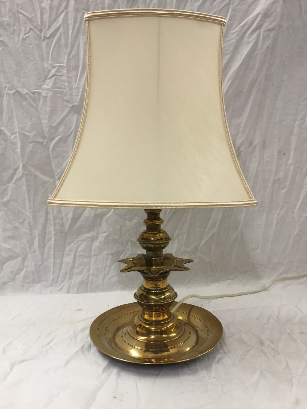 c18th indian candlestick lamp converted to table lamp