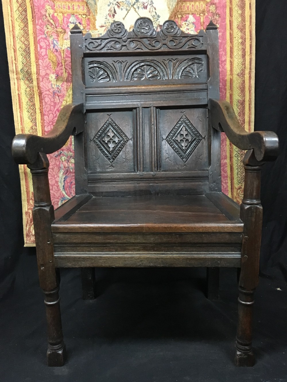 c17th and later oak wainscot chair