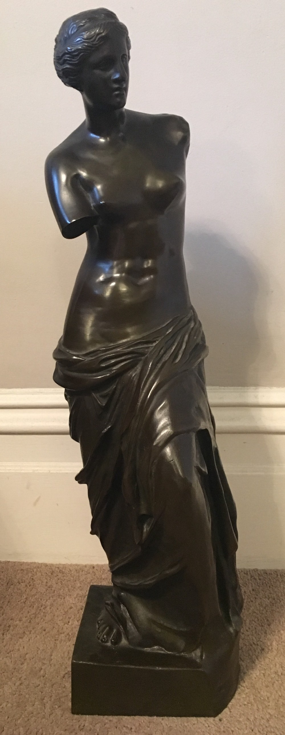 large c19th bronze of the venus de milo