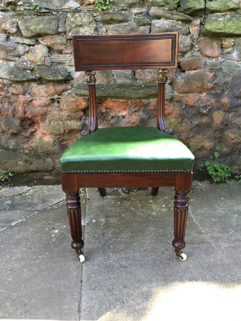 c19th desk chair in the manner of gillows