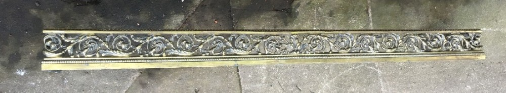 regency pierced brass fire curb fender