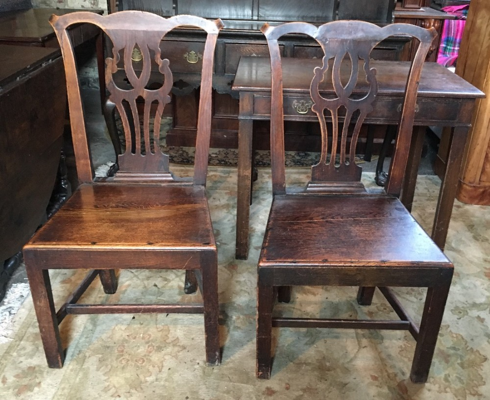 pair of elm country chairs
