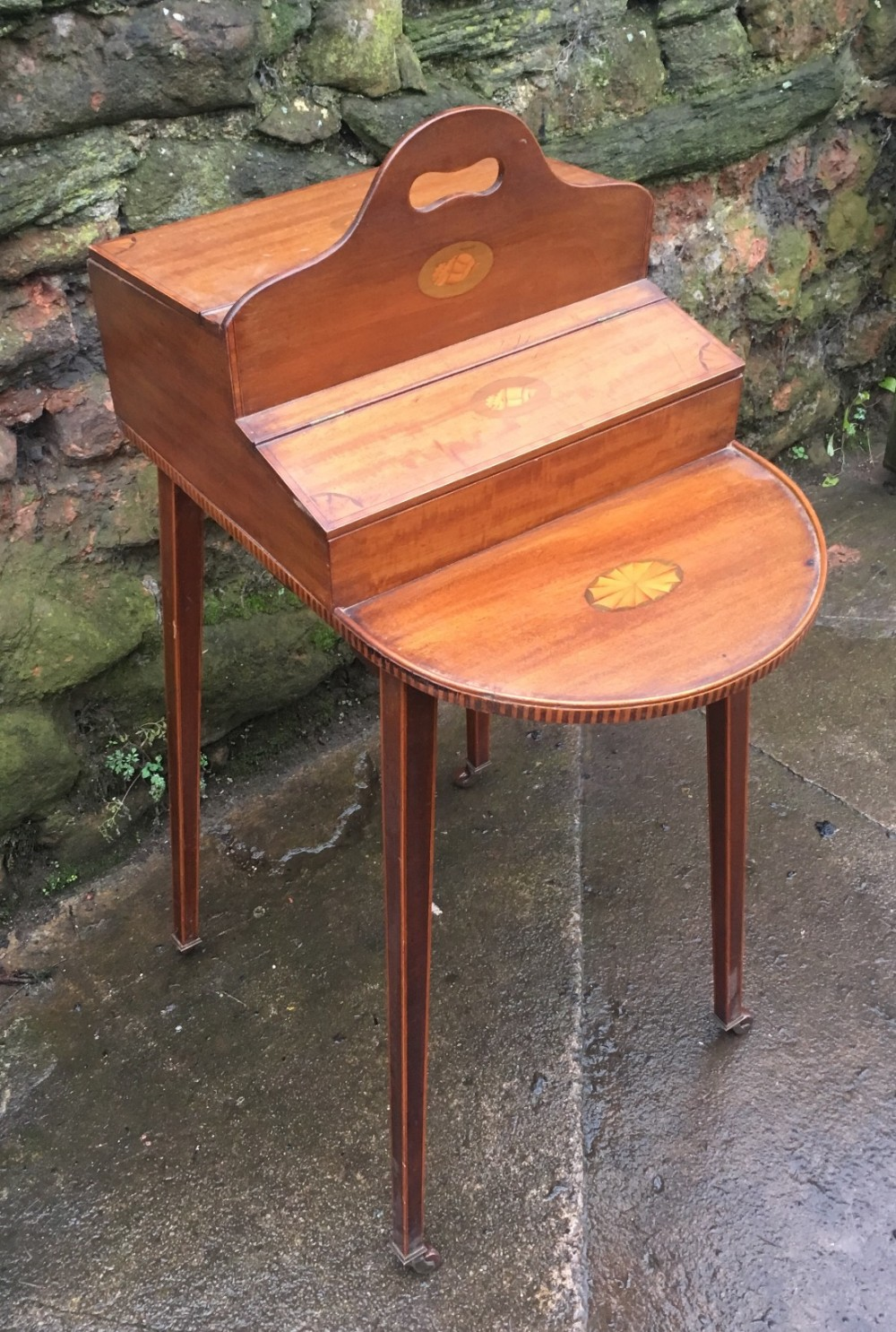 edwardian butlers tidy in mahogany