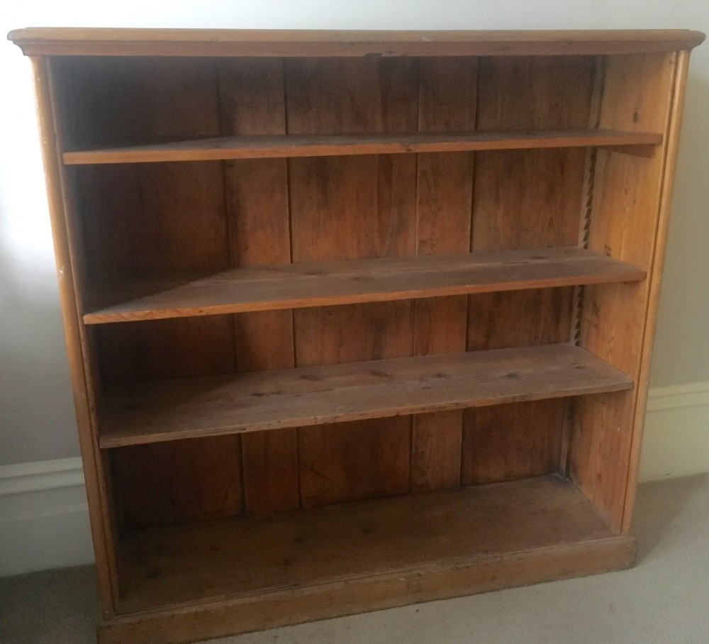 c19th stripped pine bookcase