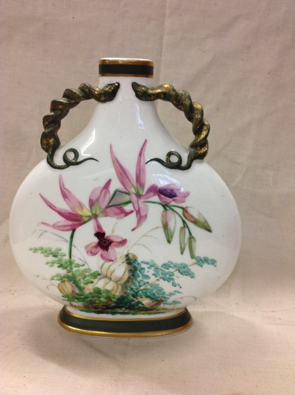 c19th minton flask