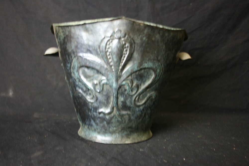 c19th copper wine cooler in the arts and crafts style