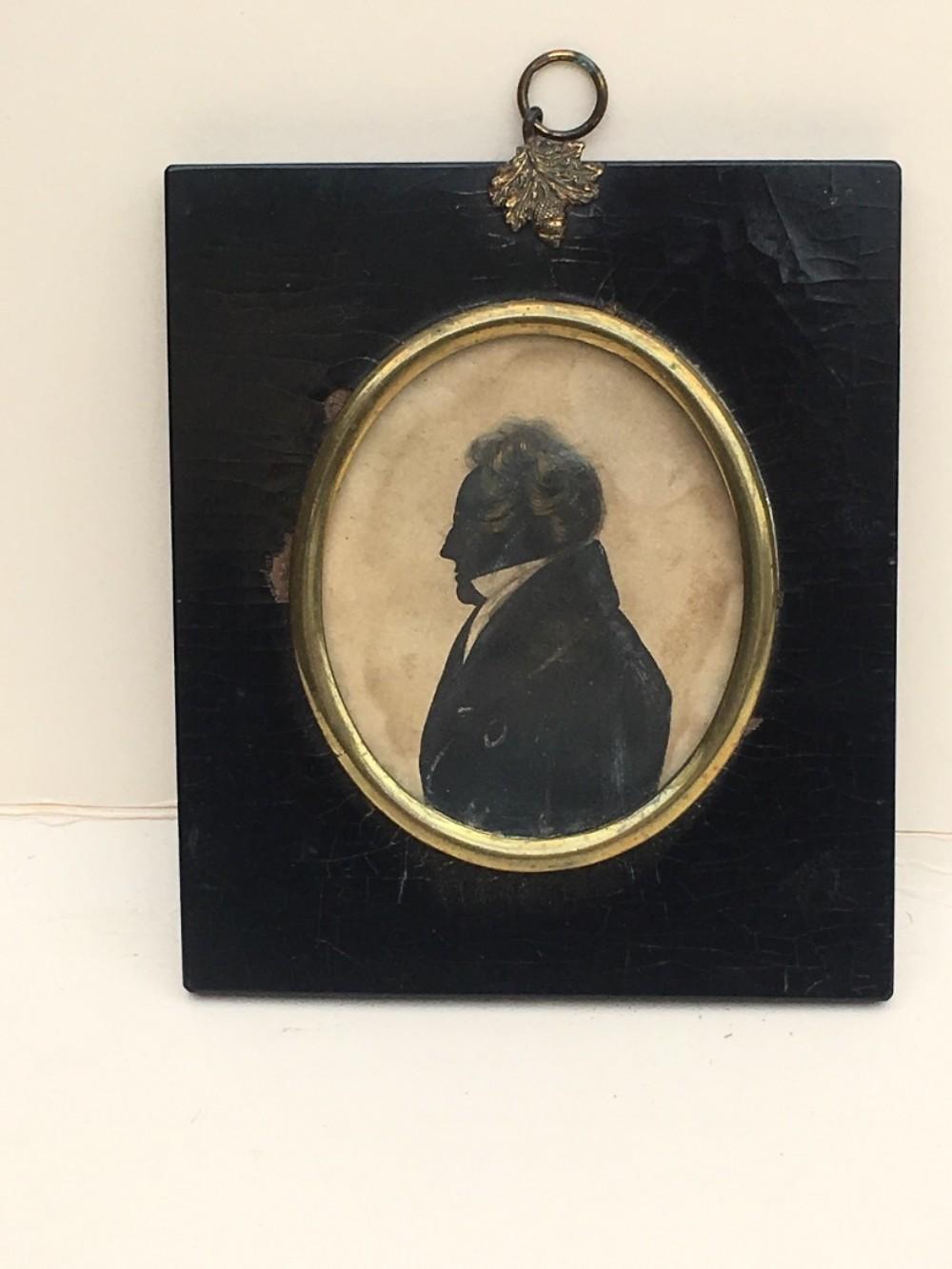 c19th portrait miniature of a gentleman
