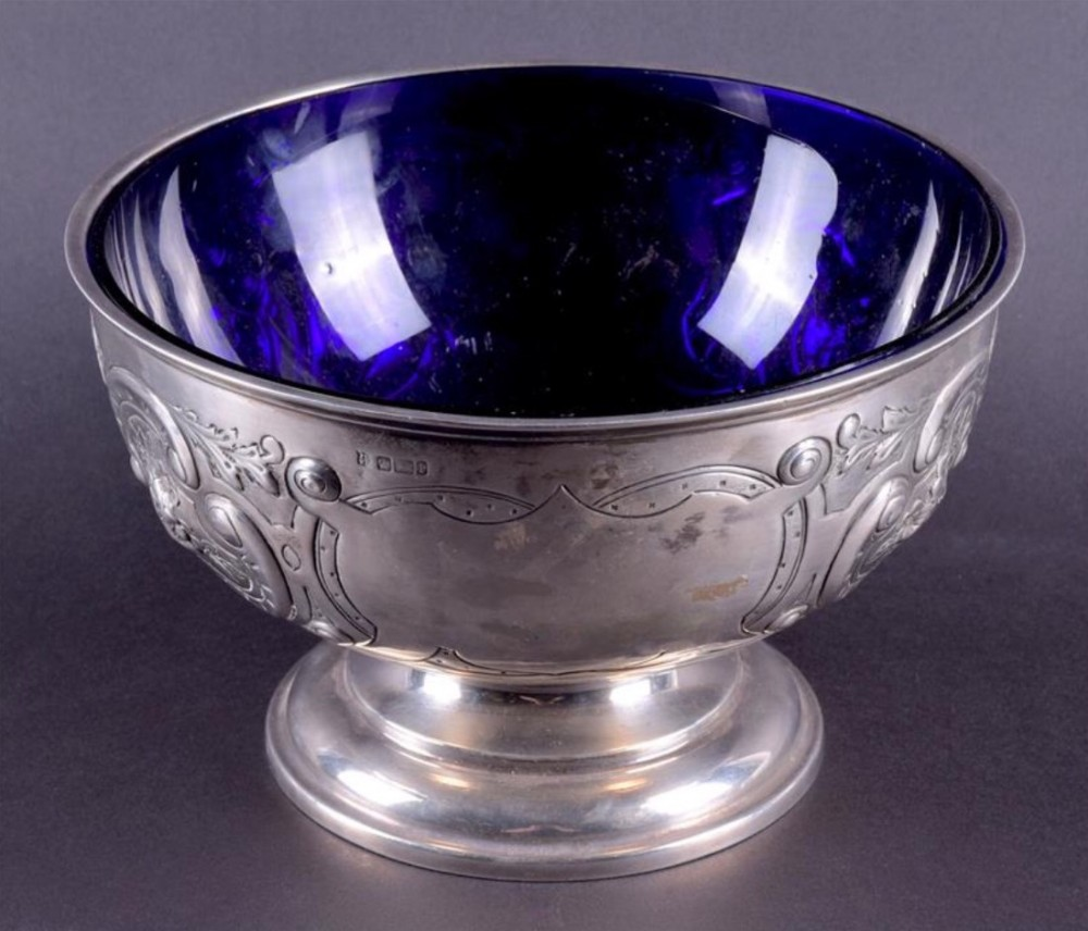 an edwardian silver rose bowl sheffield 1903