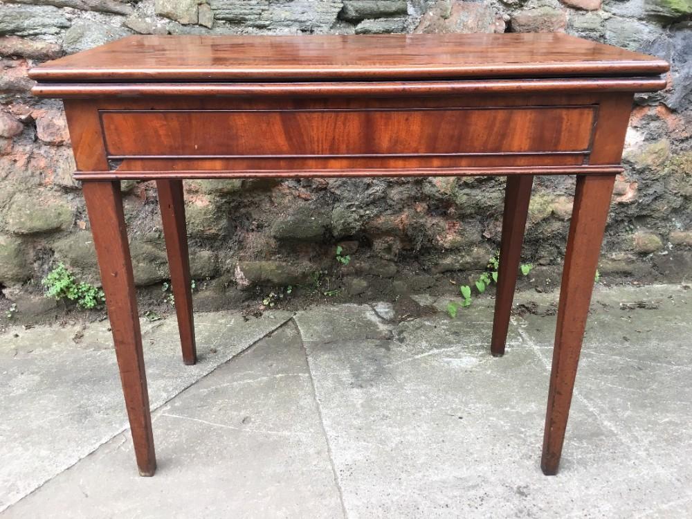 c18th tea table in mahogany