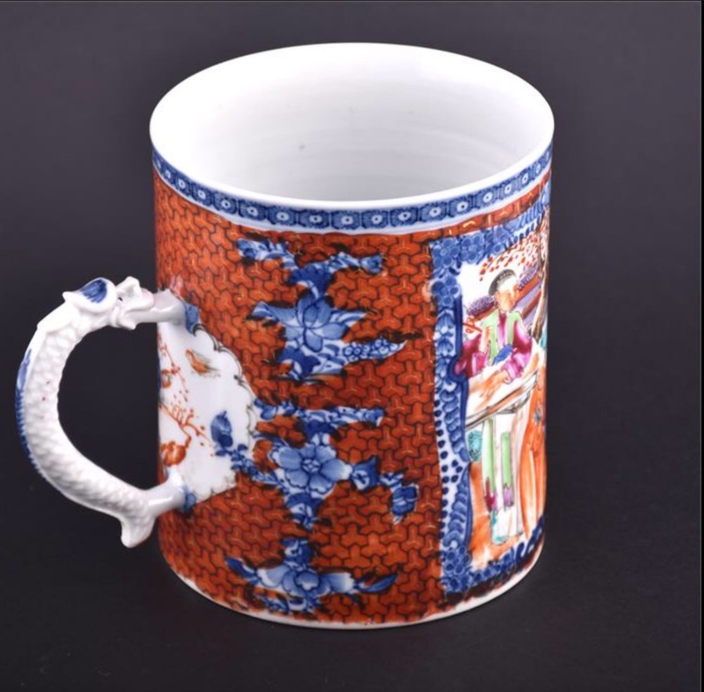 early c19th chinese canton tankard