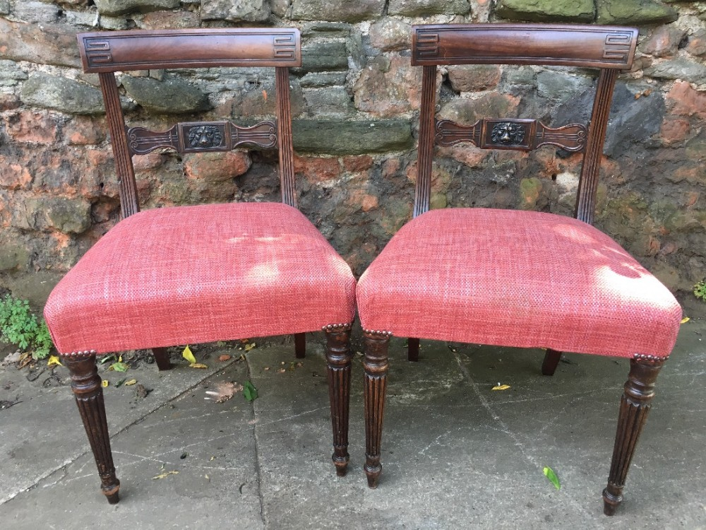 early c19th mahogany side chairs in the manner of gillows