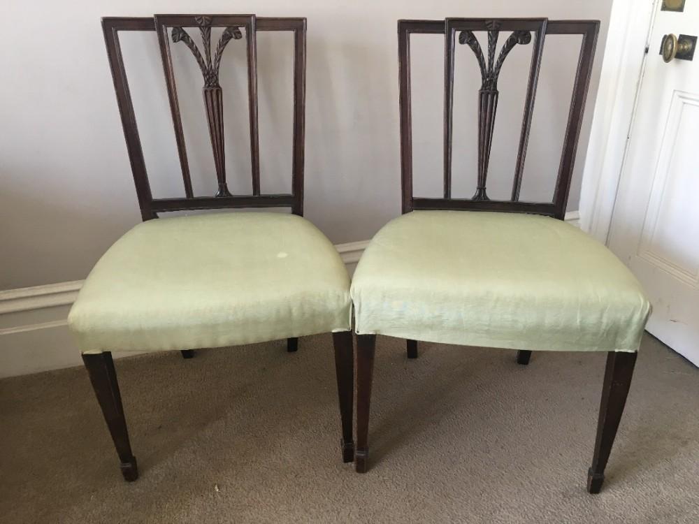 c18th pair of hepplewhite prince of wales chair