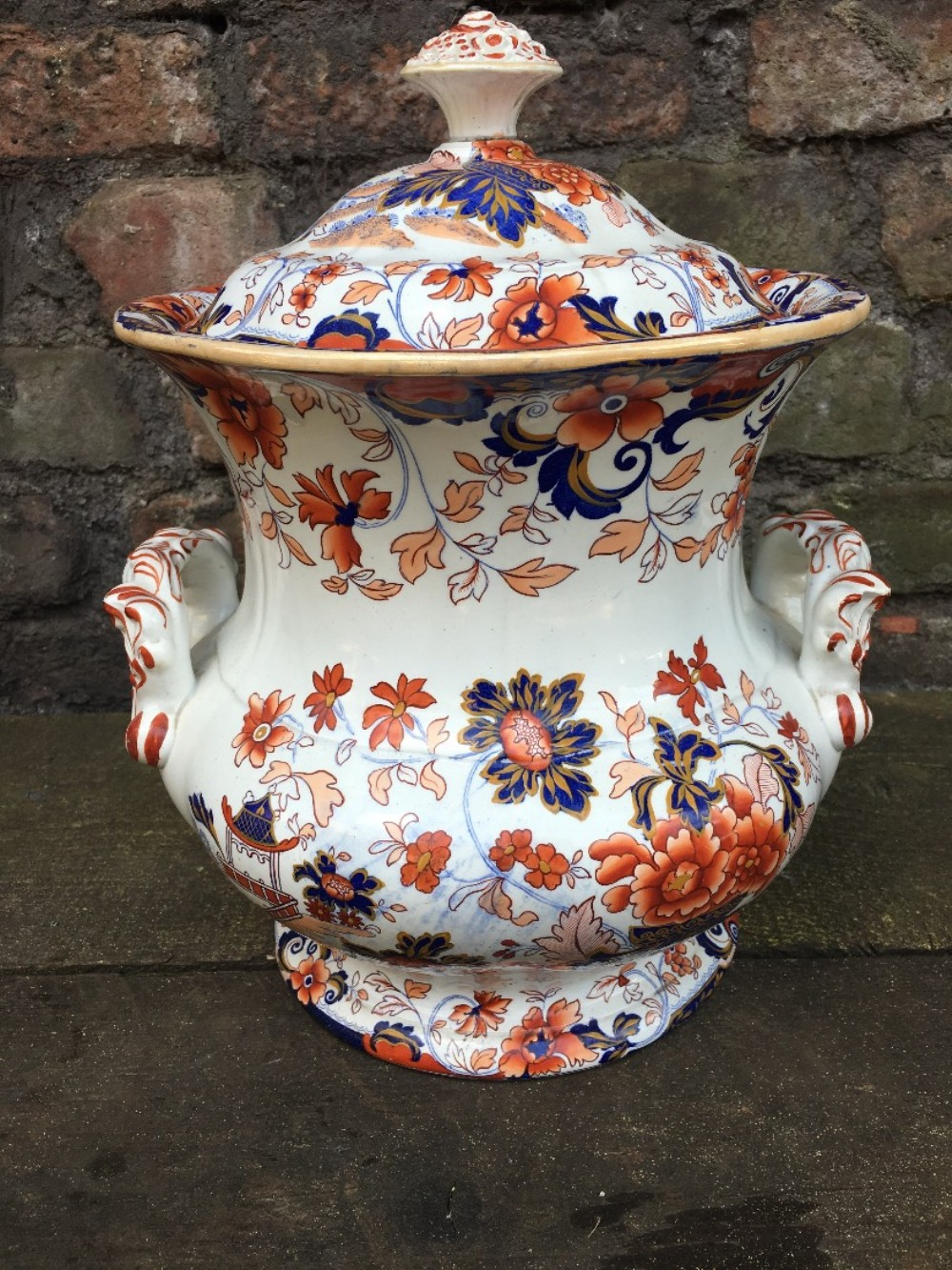 large masons ironstone tureen