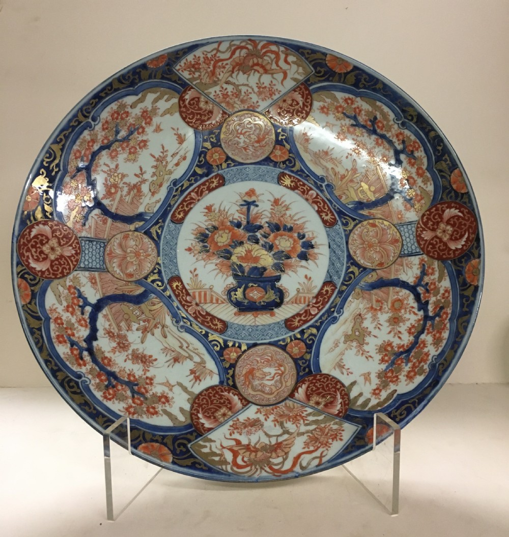 large c18th imari charger 47 cm