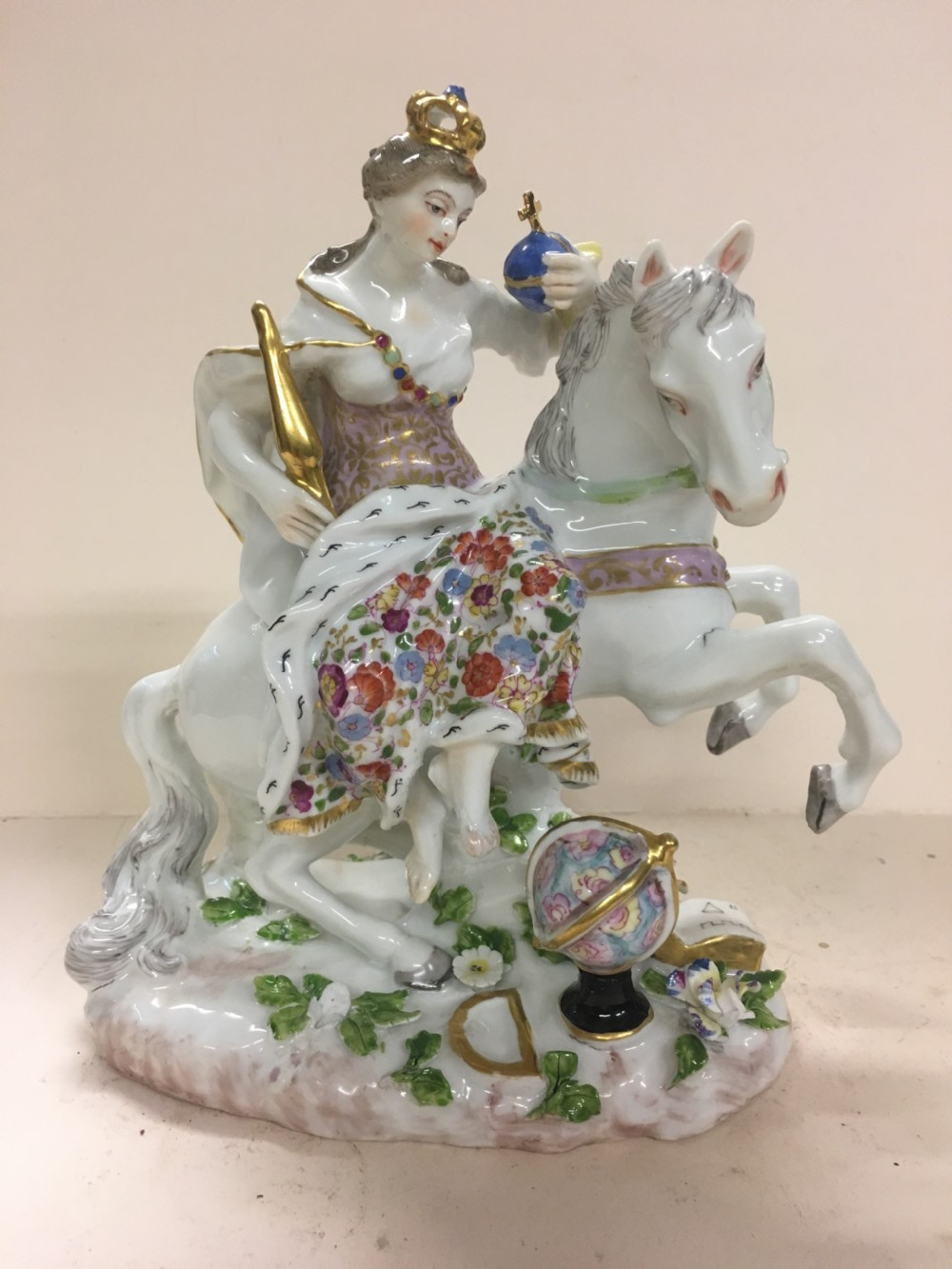 c19th porcelain figure of catherine the great