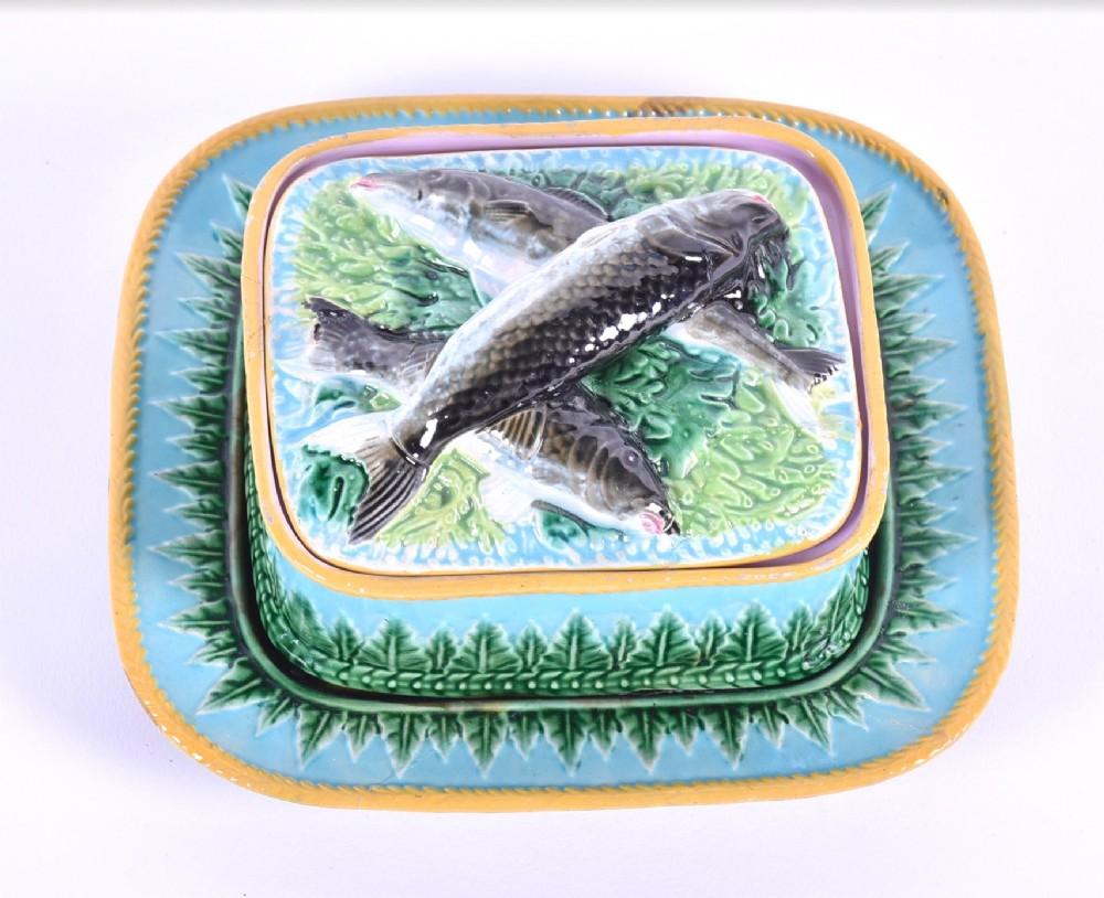 george jones majolica sardine dish