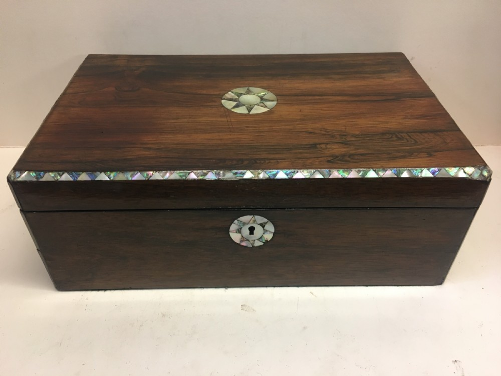 c19th rosewood writing slope