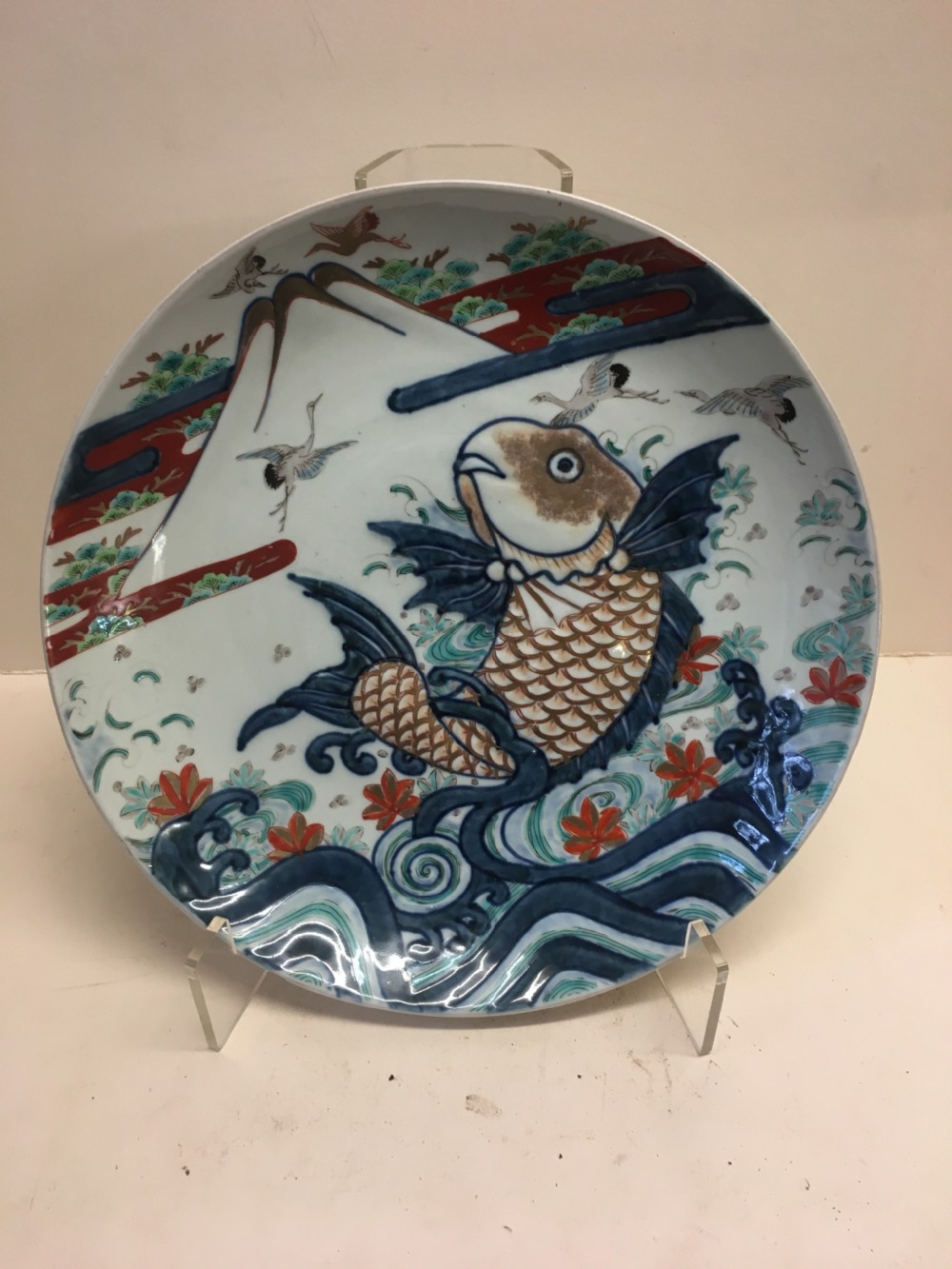 c19th large imari charger