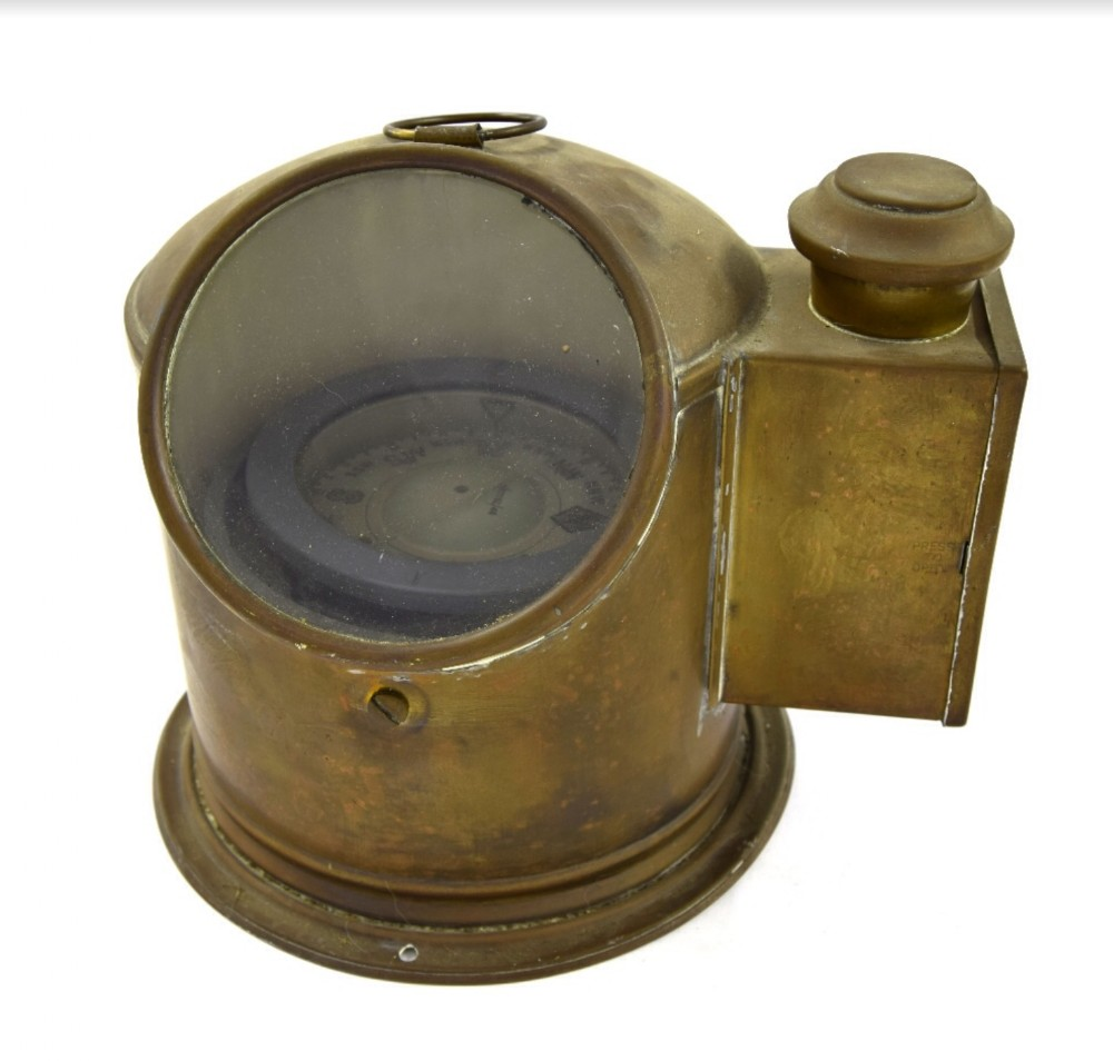 edwardian brass binnacle and compass