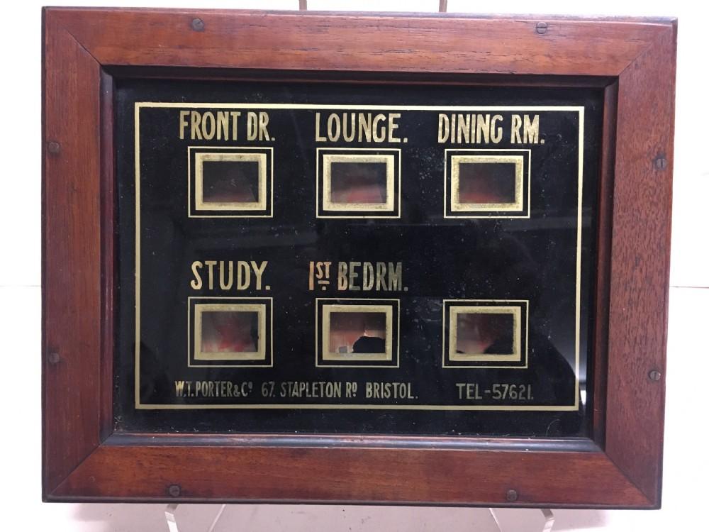 edwardian servants bell box indicators