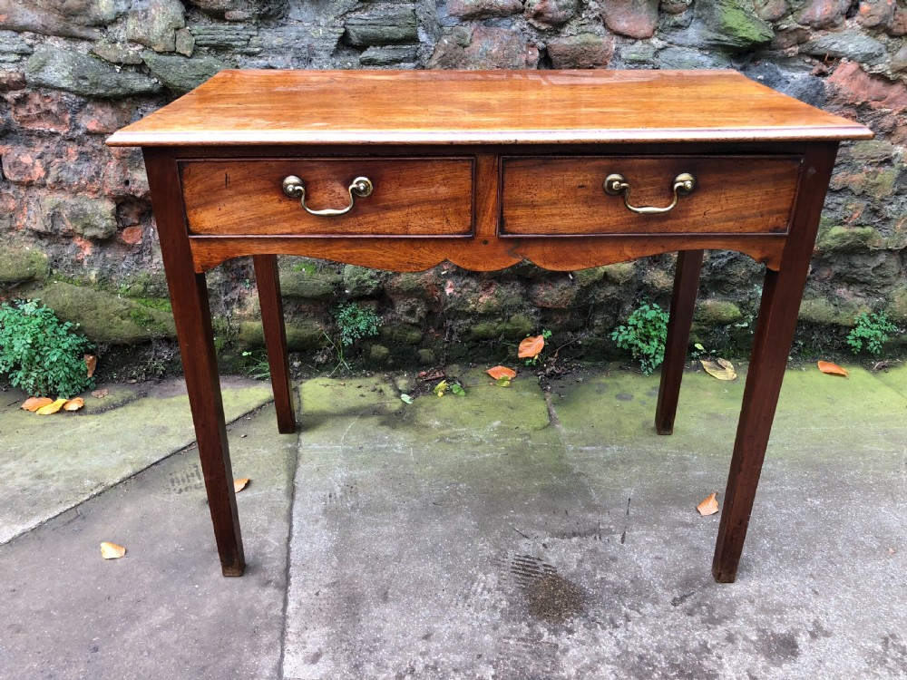c18th mahogany writing table