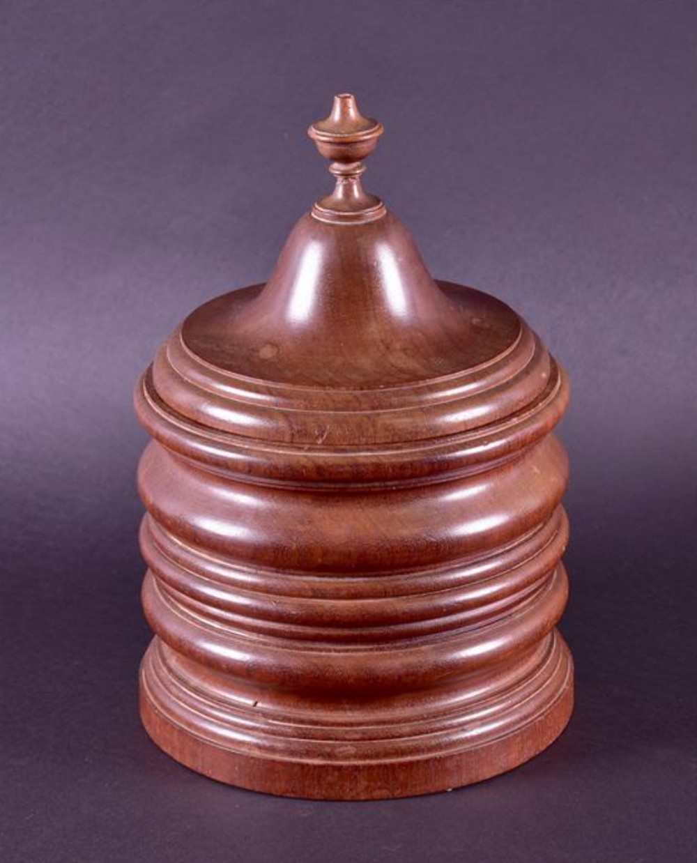 a large turned tobacco jar