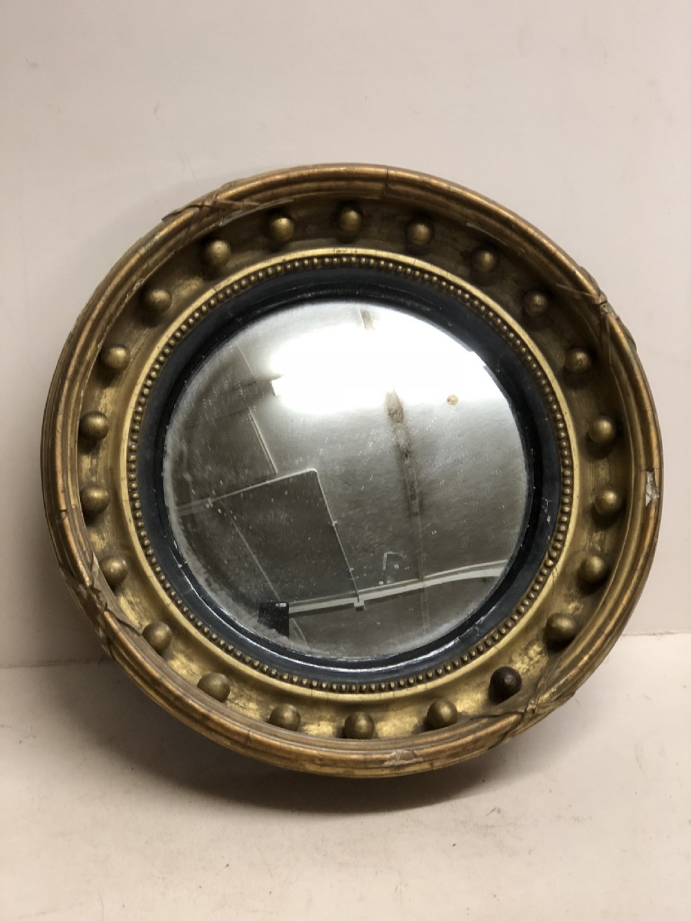 c19th convex mirror