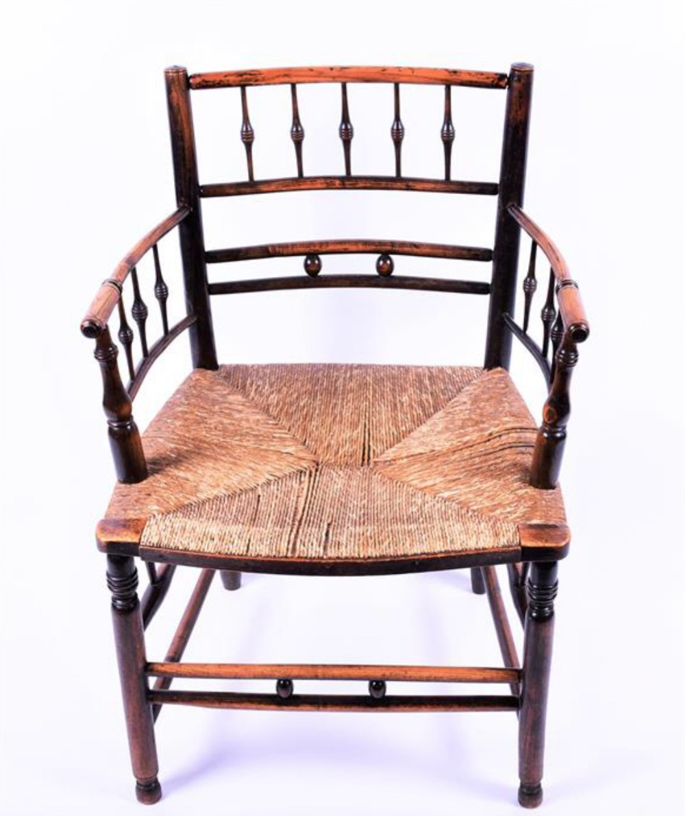painted beech william morris chair