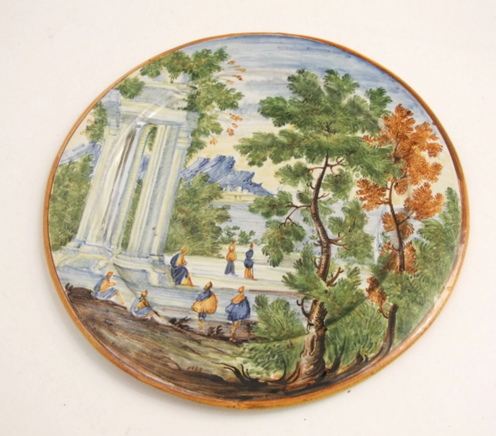 c18th costello maiolica small plate