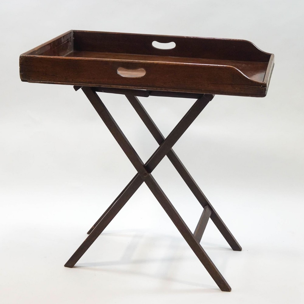c19th mahogany butlers tray