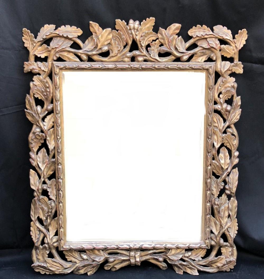 c18th italian silver leafed mirror frame