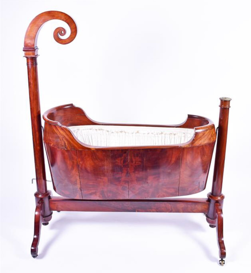 a 19th century french mahogany rocking cradle