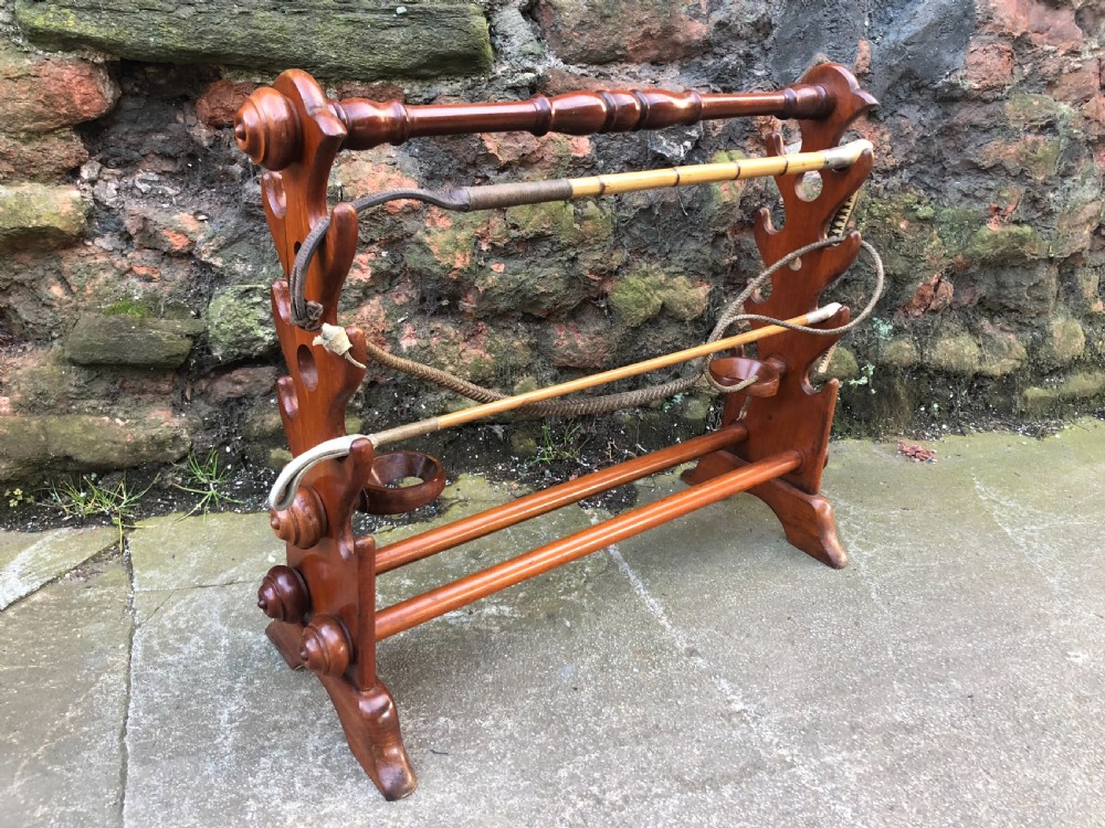 c19th mahogany whip and boot stand from dinder house