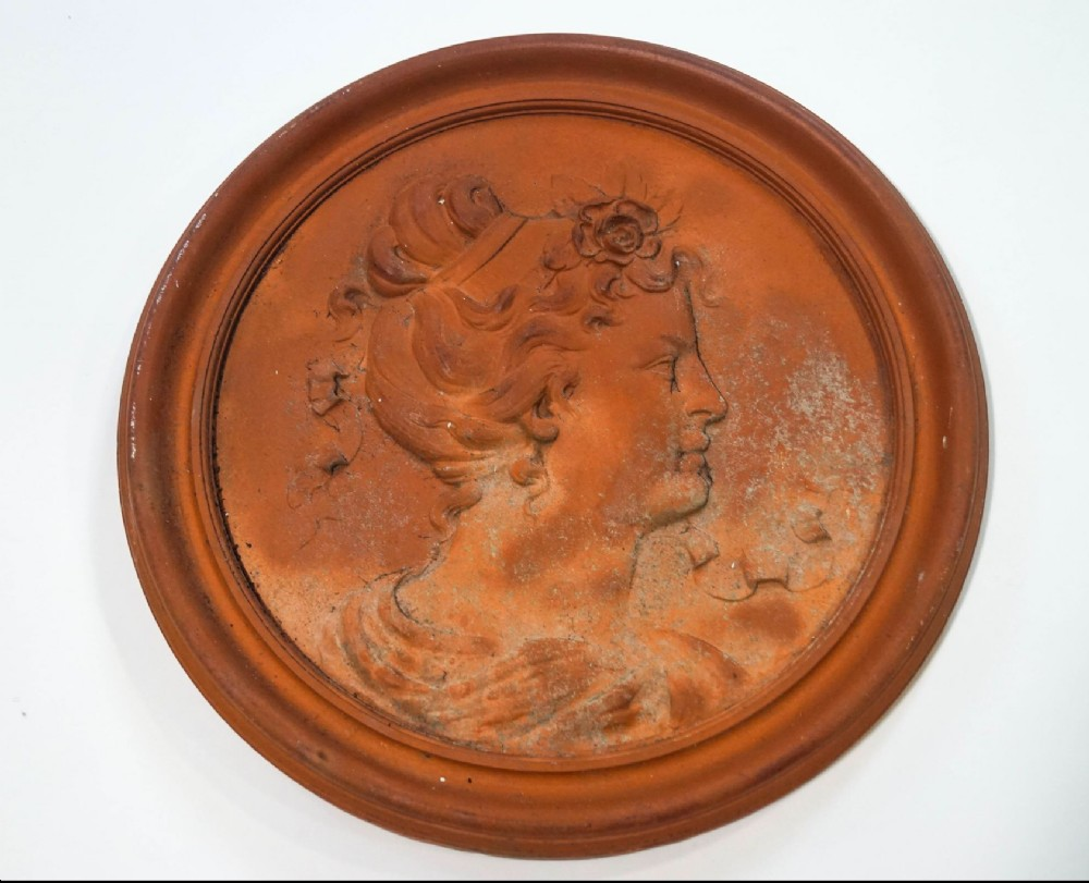 c19th terracotta roundel
