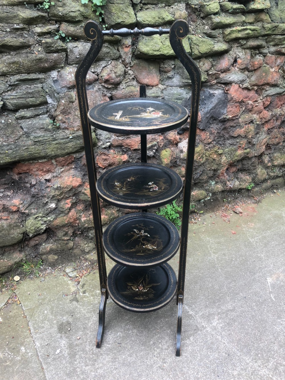 edwardian chinoiserie 4 tier cake stand