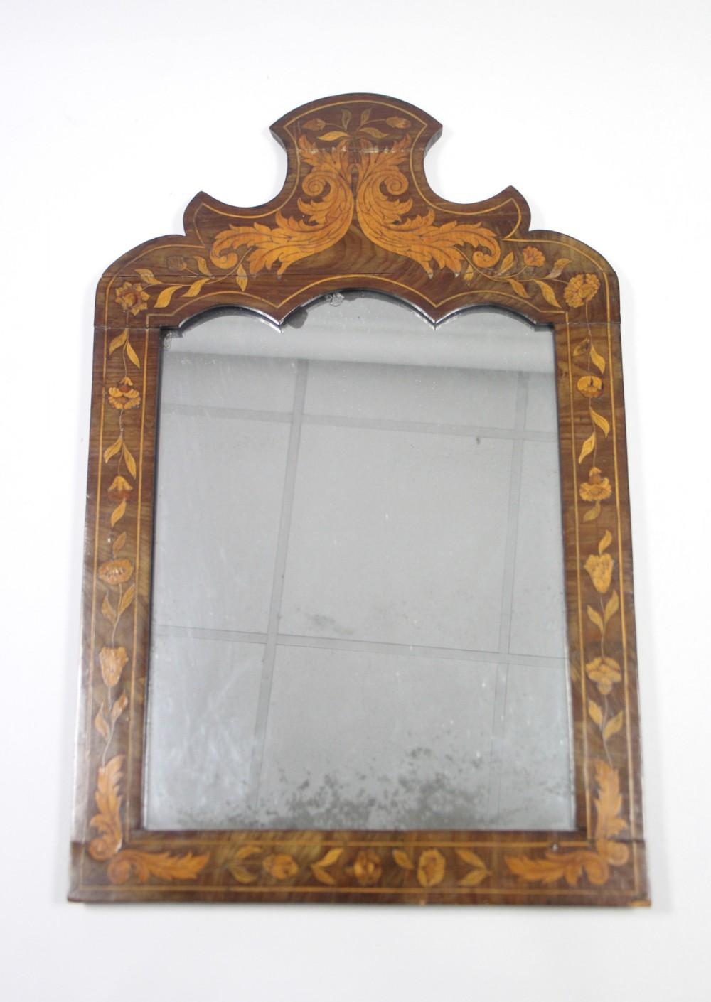 c18th dutch rectangular wall mirror