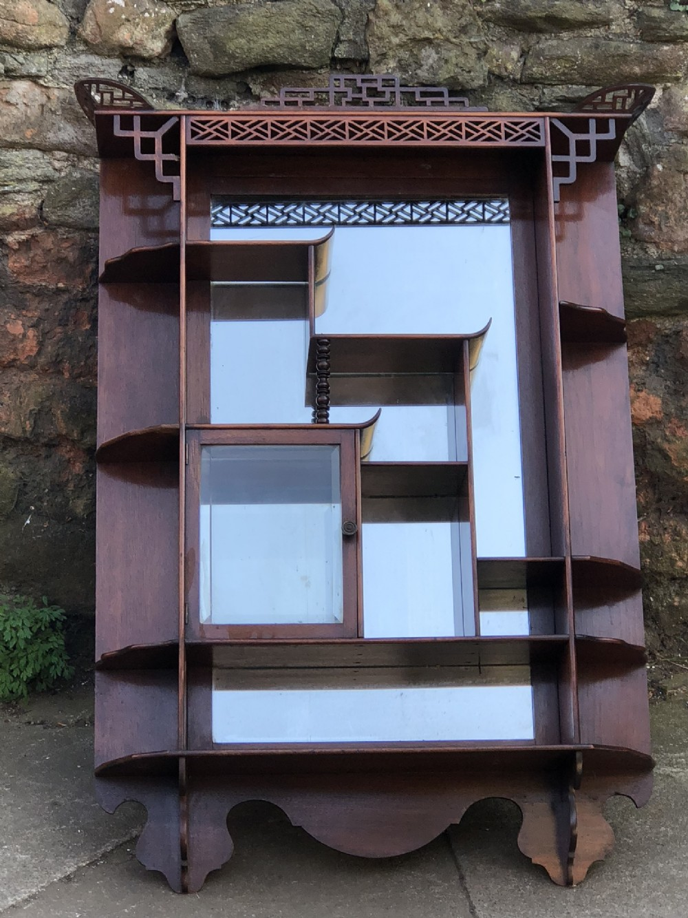 edwardian chinese chippendale influenced wall shelves