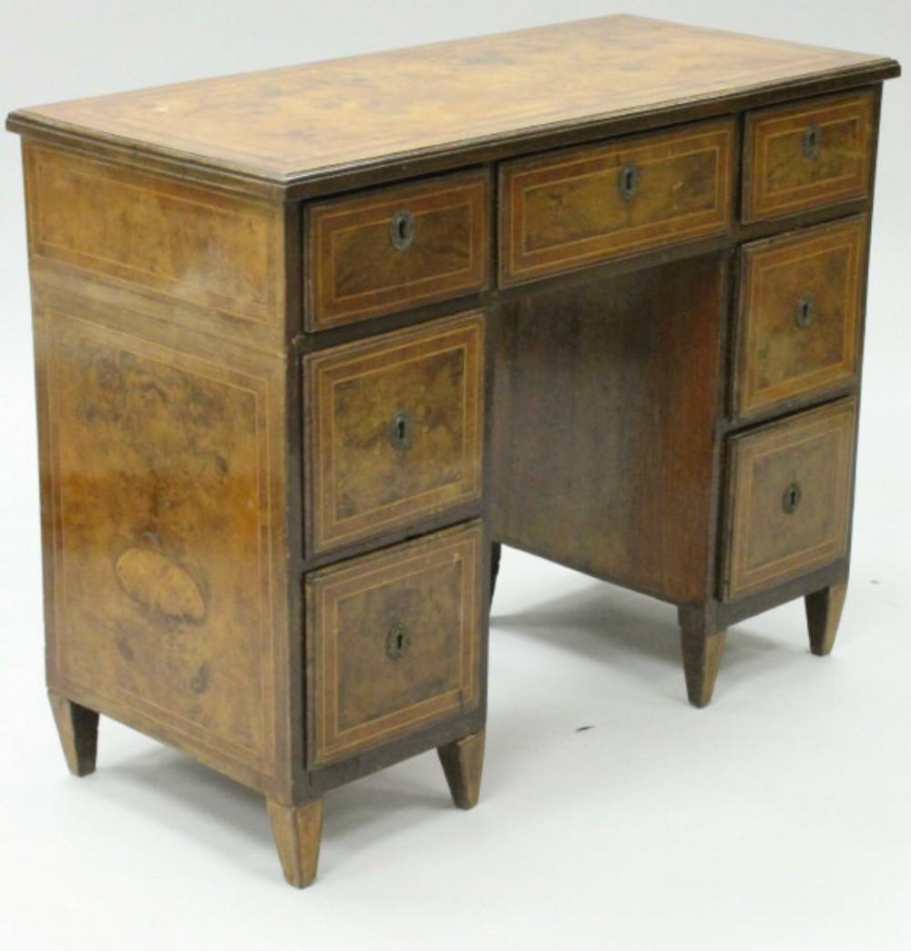 c18th walnut italian small desk