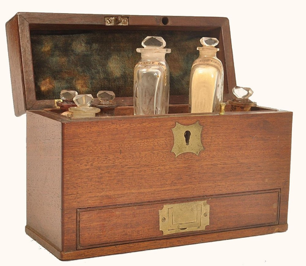 c19th apothecary box and contents