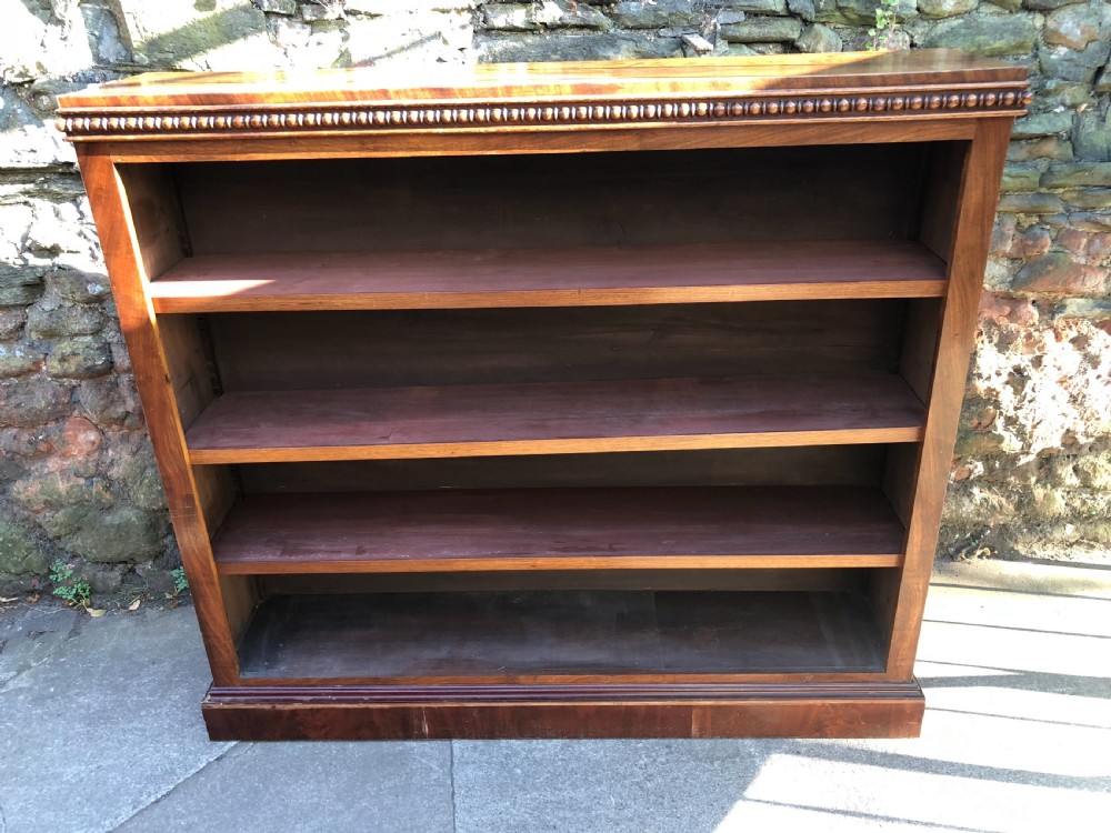 c19th mahogany bookcase with turned details