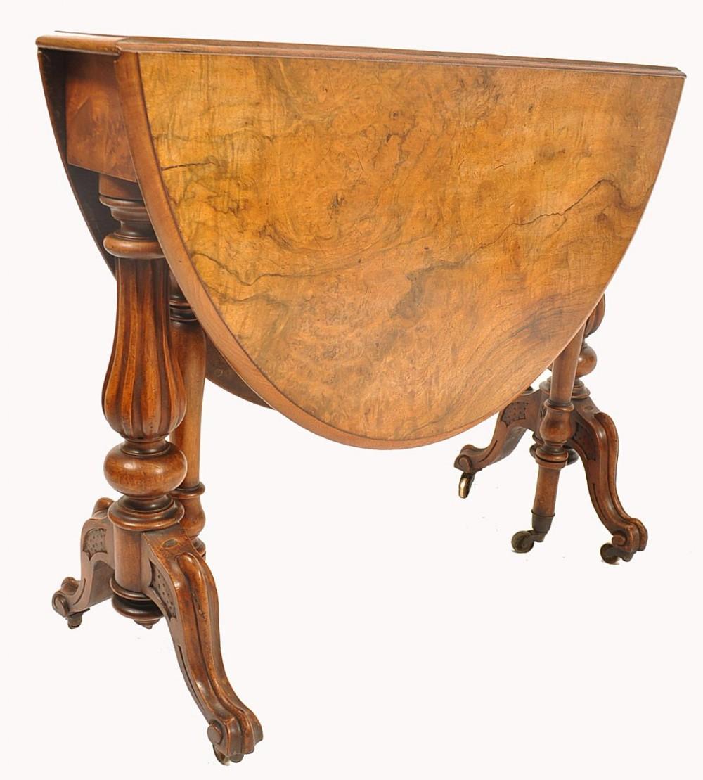 c19th burr walnut sutherland table
