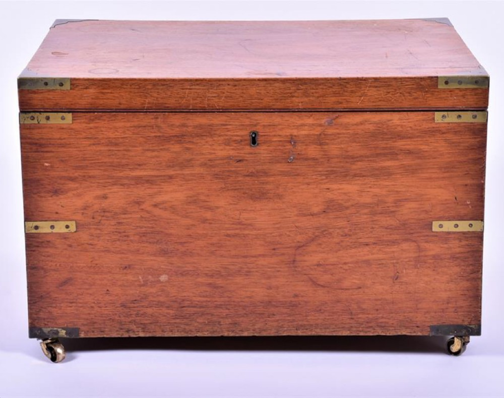 a 19th century brass bound campaign box