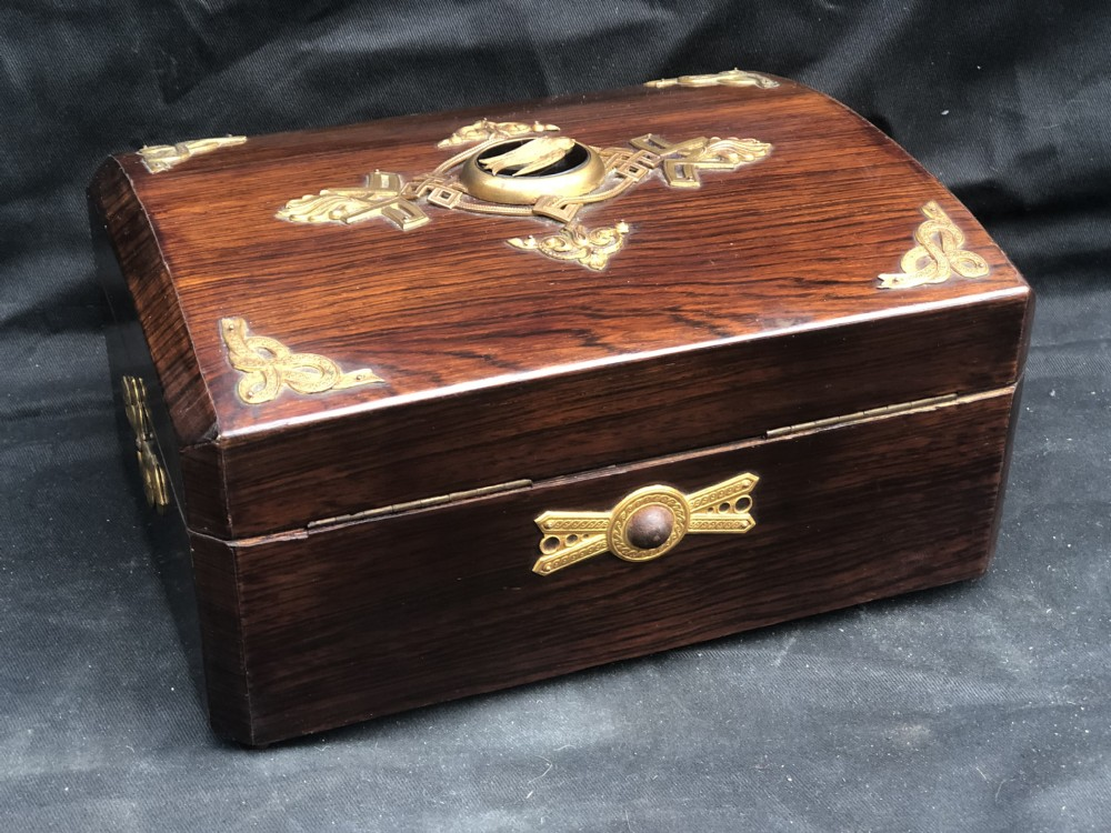 c19th french palaise royale rosewood jewellery box