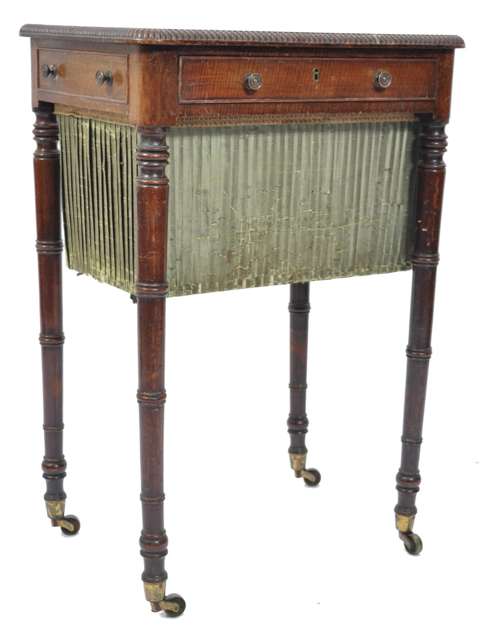 a late 18th century georgian mahogany work box table in the manner of gillows