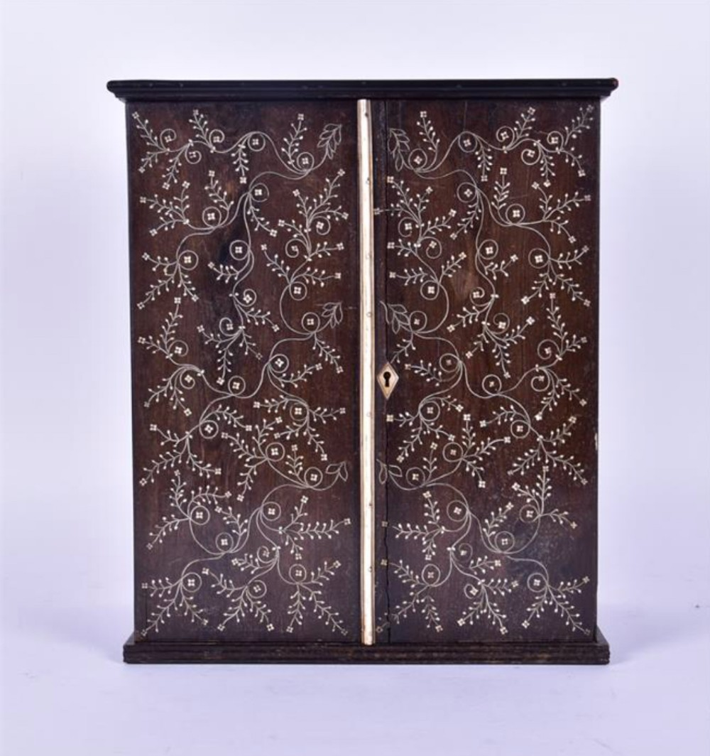early c19th indo portugese curio cabinet
