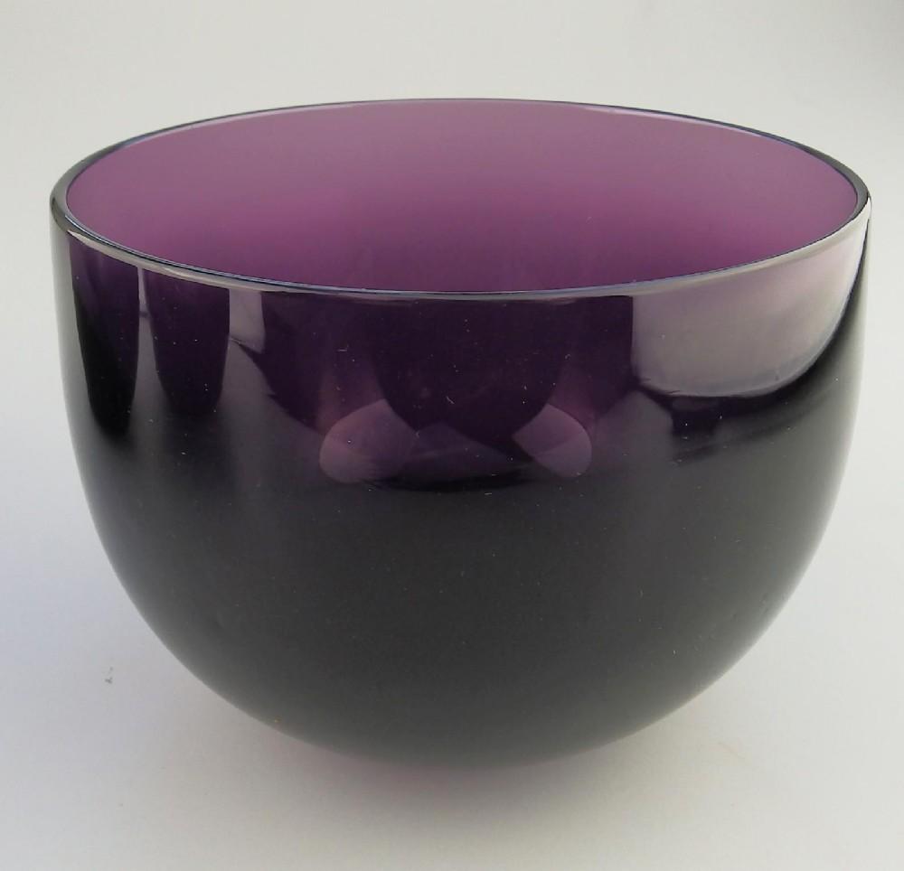 a scarce victorian amethyst coloured glass bowl c19thc