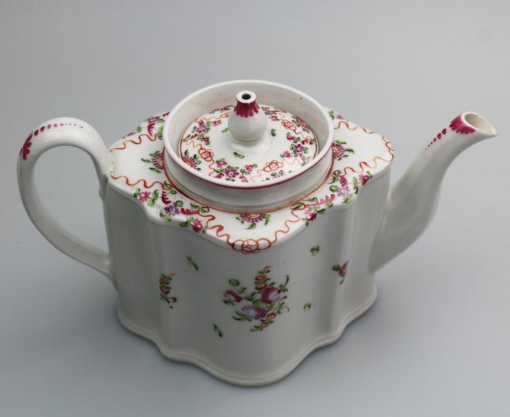 antique english porcelain an attractive new hall lozenge teapot 195 c18thc