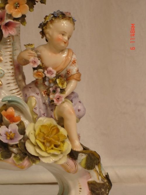19th century dresden porcelain clock - photo angle #5
