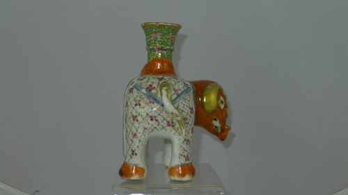 quality 19th century chinese canton elephant candlestick - photo angle #4