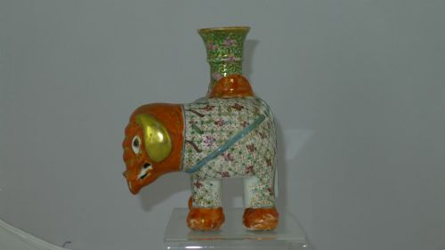 quality 19th century chinese canton elephant candlestick - photo angle #5